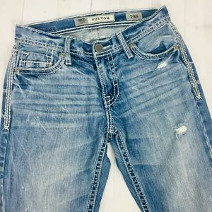 BKE Jeans Fulton Boot Thick Stitch Distressed 29S